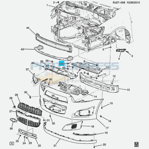 Болт противоударной штанги переднего бампера