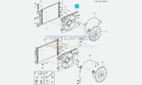 Диффузор вентилятора охлаждения 1.6 LXT 109 л.с. МКПП