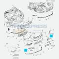 Накладка противотуманной фары правая до 2013