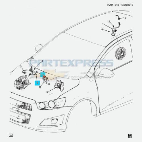 Датчик ABS передний правый