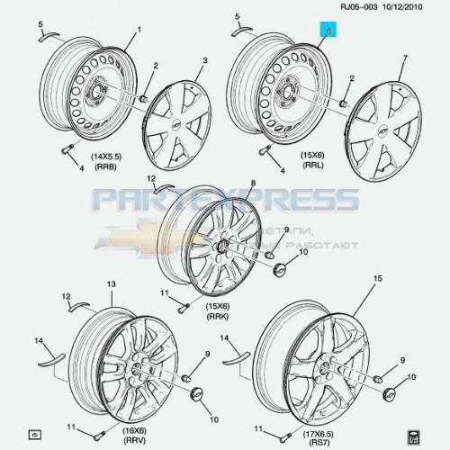 Диск колеса стальной r15