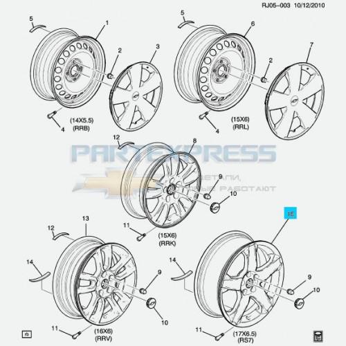 Диск колеса стальной