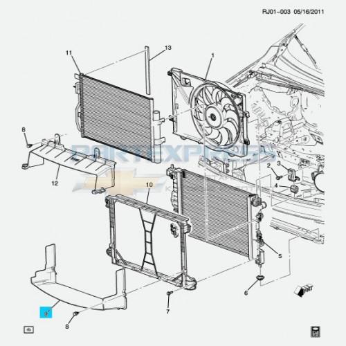 Воздухозаборник радиатора нижний 1.6