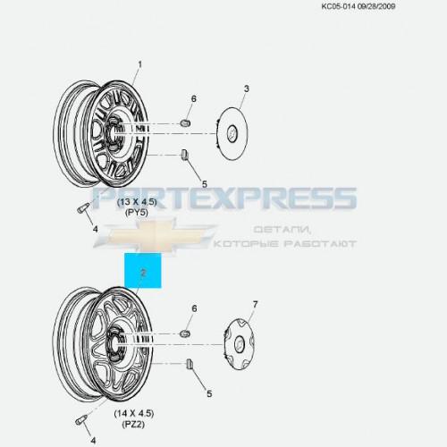 Диск колеса стальной 14*4.5
