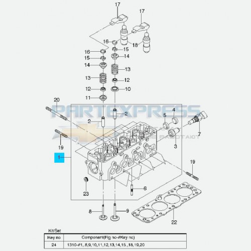 Головка блока цилиндров 1.3, 1.5