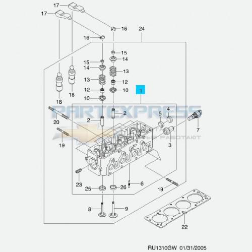 Головка блока цилиндров 1.8