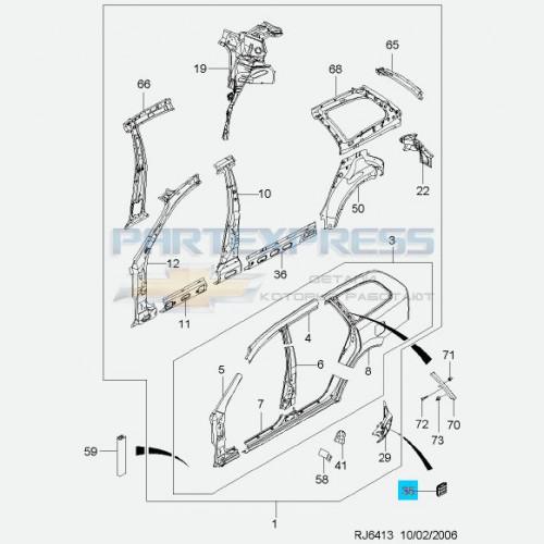 Cуппорт вентиляции багажника левый хэчбэк универсал