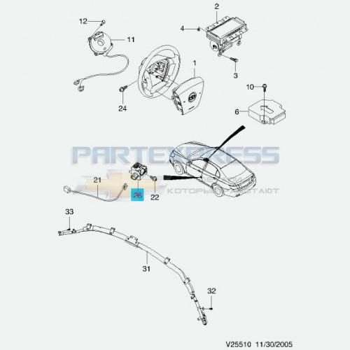 Блок-датчик боковой подушки безопасности