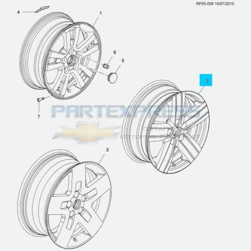 Диск колеса легкосплавный R17