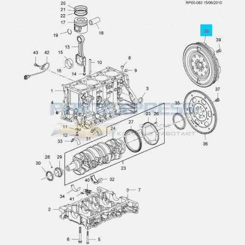 Маховик двигателя МКПП 2.2