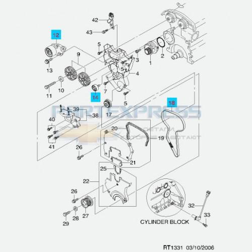 ГРМ комплект 1.2-1.4L (8 клапанные)
